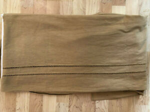 B. Smith With Style Linen Hemstitch Wheat Gold Queen Bedskirt Bed Bath & Beyond