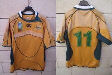 Maillot rugby AUSTRALIE AUSTRALIA n°11 IRB World Cup 2007 shirt Canterbury M
