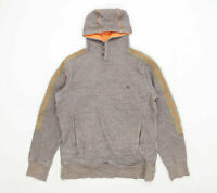 Fat Face Mens Size S Cotton Striped Brown Hoodie