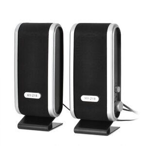 2.1 Channels Computer Speaker USB Power Mini 8W for Laptop PC computer (2PCS)