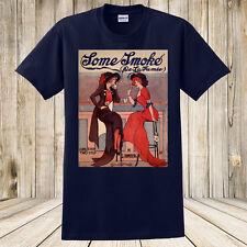 New Some Smoke T-Shirt Antique Sheet Music Art Ladies Smoking / Alcohol / Bar