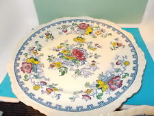 rare antique masons ironstone 27cm dia plates (pat 5101) similar to nabob