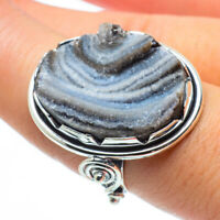 Large Desert Druzy 925 Sterling Silver Ring Size 8.5 Ana Co Jewelry R30266F