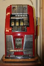 Antique Original 25 cent MILLS 777 Slot Machine 1940s with stand