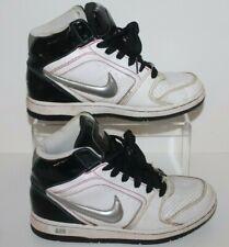 Nike Air Prestige UK 4.5 High Top Trainers White Black Silver Retro 2008