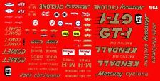 JACK CHRISMAN KENDALL GT-1 Mercury NHRA DRAG 1/64th HO Scale Slot Car Decals