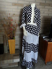 Vintage Ann Tian for Brodkin Sports Black & White Poke-a-Dot Skirt & Jacket sz 6