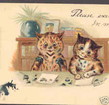 WAIN..INK COVERED CATS WRITE LETTERS,1905,TUCK POSTCARD