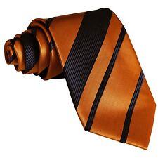 New polyester formal striped men's neck tie necktie black gold wedding prom