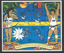 Nauru 1995 Olympics/Birds/Dolphins/Marine 4v sht s1390