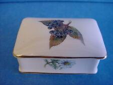 More details for princess royale english made fine bone china rectangular trinket box herbs