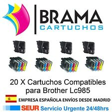 20x Compatibles Non Oem Brother LC985BK DCP J125 , DCP J315W , DCP J515W