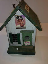 Michael Jordan Chicago Bulls NBA Barons's Baseball wood bird house Outdoors RARE
