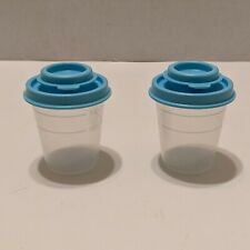 Set 2 Tupperware Salt and Pepper Shakers Spice Small Mini Chartreuse Green Tw16