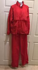 VTG Woolrich Teton Men's Rain Gear L Jacket XL Pants Windbreaker Red Nylon Vent