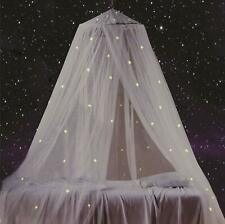 Bed Canopy with Fluorescent Stars Glow in Dark for Baby, Kids, Girls Or Adults