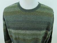 Ermenegildo Zegna Wool Mohair Geometric Italian Crewneck Sweater Euro 52 Large