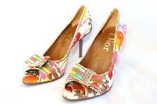 Dior Floral  Signature Bow Pumps Heels Shoes New Without Box 37.5