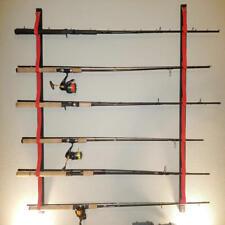 "Overhead or Wall Fishing Rod Rack, 49"" long Wall Mount Holder Horizontal Pole"