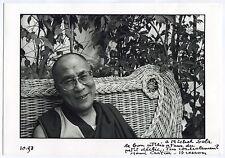 Photo Henri Cartier-Bresson - Tenzin Gyatso - 14e Dalaï Lama - Tirage d'époque -