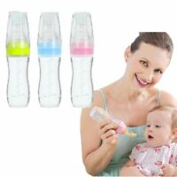 Dispensing Baby Silicone Feeding Spoon With Bottle Infant Easy Feed 120ml Bottle