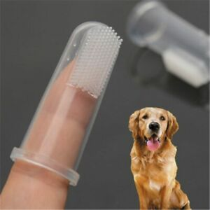 Dog/Cat Oral Cleaning Silicone Finger Toothbrush Descaling Pet Supplies with Box