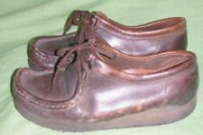 Clarks Originals Wallabee Womens Size 6 M Brown Oiled Beeswax Leather Used Shoes