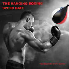 Pu Leather Mma Boxing Punching Speed Training Ball Hanging Pear Bag Exercise