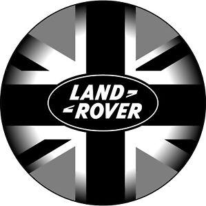 600 mm BLACK GREY UNION JACK LAND ROVER -SPARE WHEEL COVER STICKER