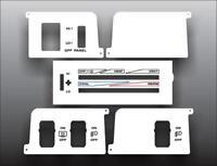1992-1995 Jeep Wrangler White Heater Control Switch Overlay HVAC