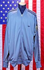 Men Adidas Soccer Grey Zip Warm Up Jump Suit Jacket Striped L Long Jogging Work