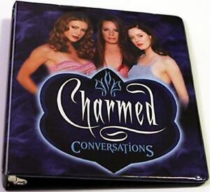 Inkworks Charmed Conversations Trading Card padded 3-Ring Binder Album Looseleaf