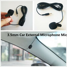 New 3.5mm Car Stereo External Microphone For Bluetooth Stereo GPS DVD MP5 Radio