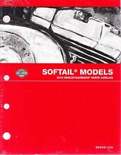 2012 Harley Softail FX/FL Springer Deuce Heritage Classic Parts Catalog Manual