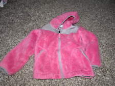 THE NORTH FACE 4T PINK FLEECE JACKET COAT HOODED