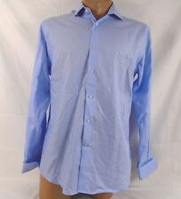 Ryan Seacrest Slim Fit French Cuffed Dress Shirt Light Blue 16 1/2 34/35 555M