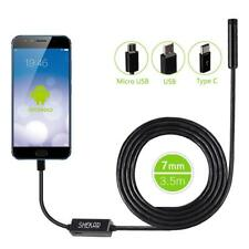 SHEKAR 7mm Android Endoscope Borescope USB C Inspection Camera 3.5 m Waterproof