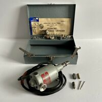 Vintage Dumore Duplex Hand Grinder 8089, 2 wrenches, Metal Box, 20 Bits - Tested