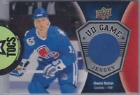 Owen Nolan 2016-17 UD Series One Game Jersey Quebec Nordiques GJ-ON Blue Swatch