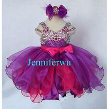 Infant/toddler/kids/baby/children Girl's Glitz Pageant Dress 1-6T G266-1