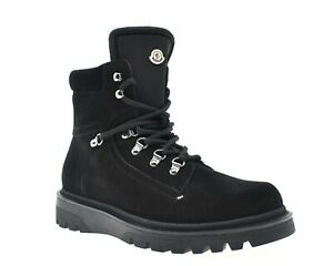 Moncler Egide Mountain Boots Black Leather Size 10 New