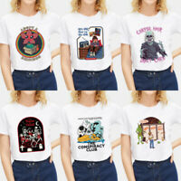 Women Short Sleeve Loose T Shirt Fashion Lady Summer Casual Blouse Tops Shirts