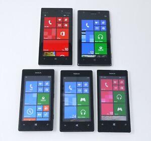 Lot of 5 Working Nokia Windows Smartphones - Lumia 928, Lumia 925, Lumia 520