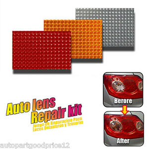 Car Auto Lens Repair Tool Kit 3 Colors for Tail Lights Turn Signals Clear Lenses