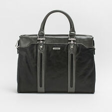 Prima Mela Genuine Leather Twin Tone Laptop Briefcase Shoulder Bag Messenger