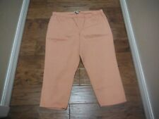 "AMERICAN RAGGIE ORANGE PULL ON CAPRI'S W/BACK POCKETS ~ SIZE 2X - 22 1/2"" INSEAM"
