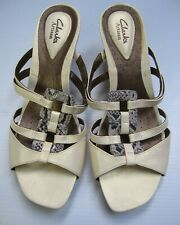 Clarks Artisan Active air Open toe Slip on sandal Shoes Size 9 M White Comfort