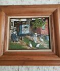 """H Hargrove """"AMISH EMPIRE BUGGY"""" canvas, Certified And Signed  Wooden Frame..."""