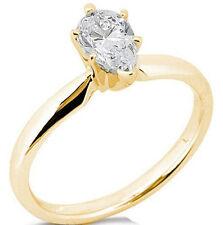Yellow Gold Ring G / Vs2 #2 0.36 ct Pear Shape Diamond Solitaire Wedding 14K