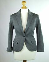 Womens Grey Suit Jacket 6 Untitled Cotton Blend Regular Hip Length Plain